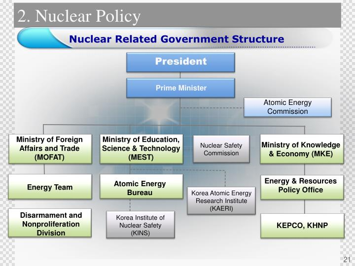Nuclear Related Government Structure