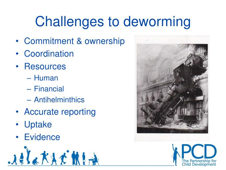 Challenges to deworming
