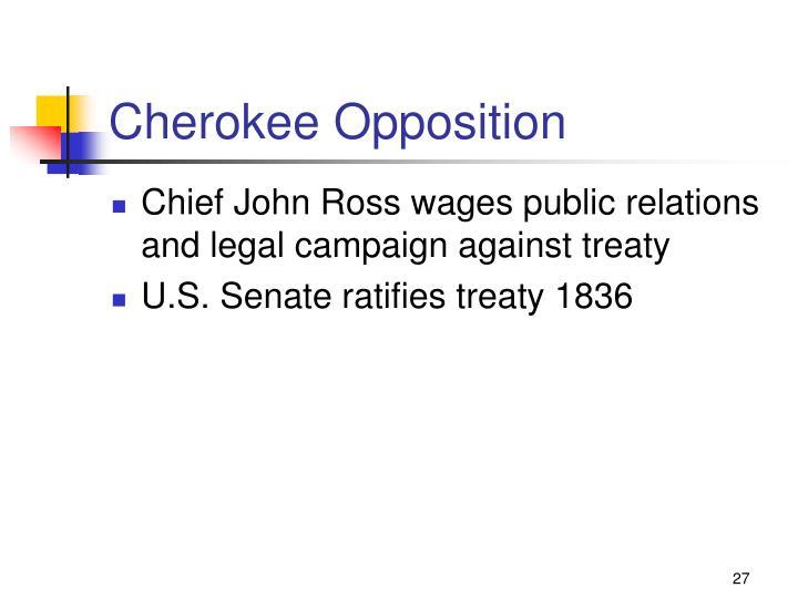 Cherokee Opposition