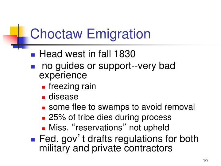 Choctaw Emigration