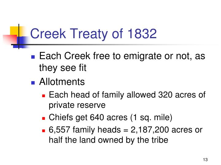 Creek Treaty of 1832