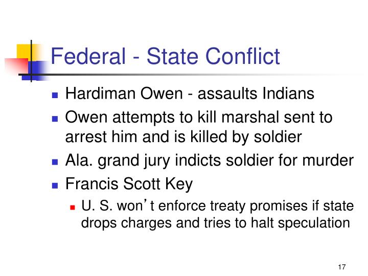 Federal - State Conflict