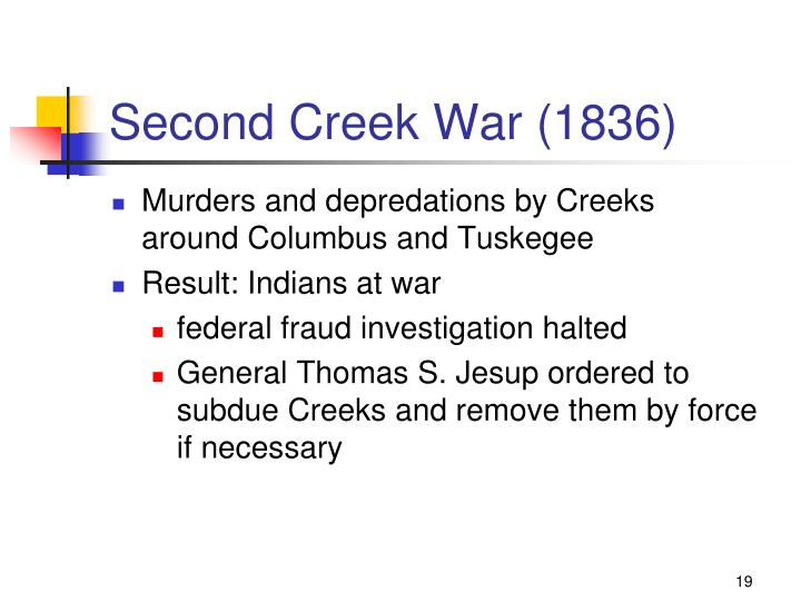 Second Creek War (1836)