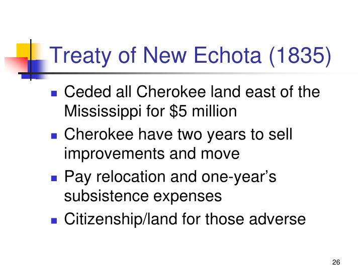 Treaty of New Echota (1835)
