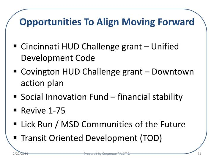 Opportunities To Align Moving Forward