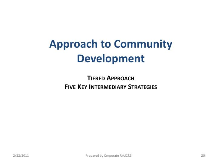 Approach to Community Development