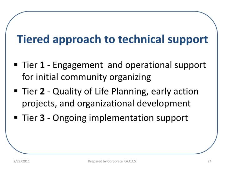 Tiered approach to technical support