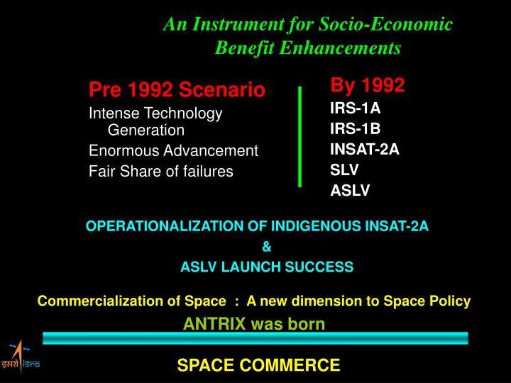 Pre 1992 Scenario