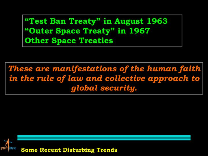 """Test Ban Treaty"" in August 1963"