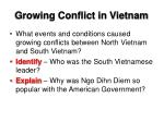 growing conflict in vietnam1