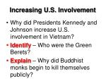 increasing u s involvement1