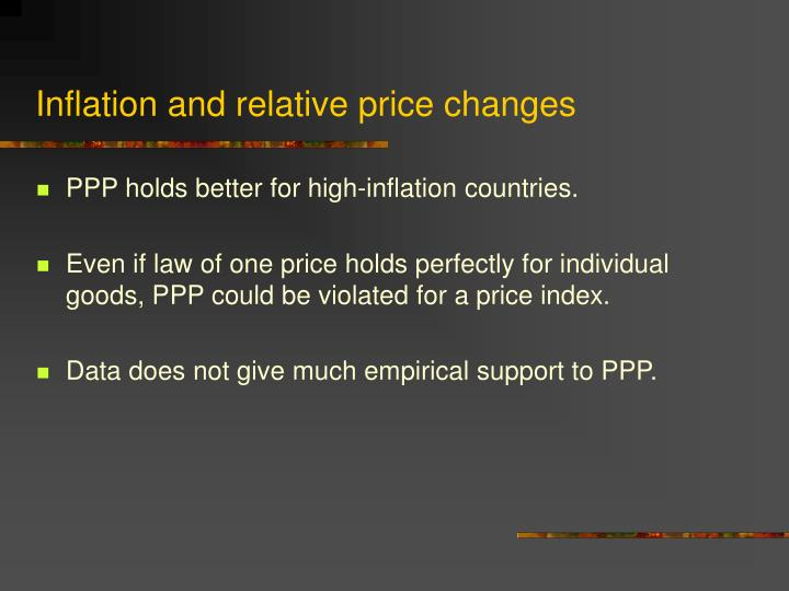 Inflation and relative price changes