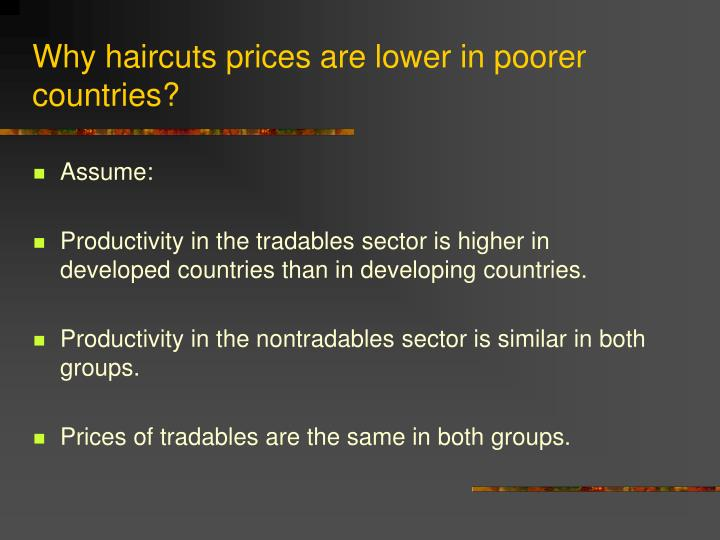 Why haircuts prices are lower in poorer countries?