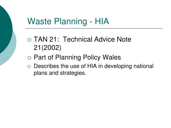 Waste Planning - HIA