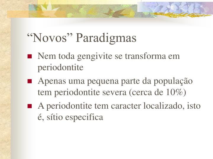 """Novos"" Paradigmas"