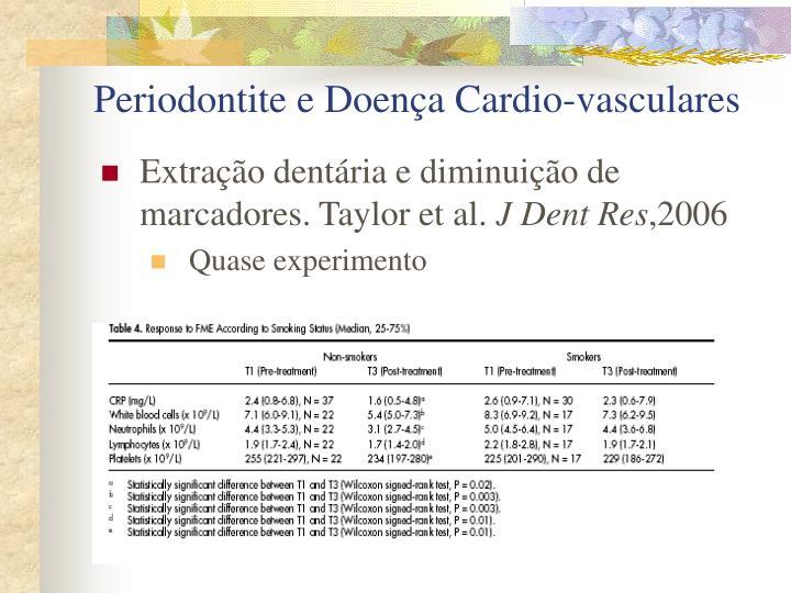 Periodontite e Doença Cardio-vasculares