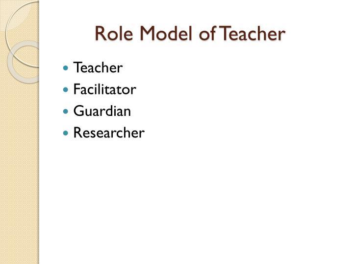 Role Model of Teacher