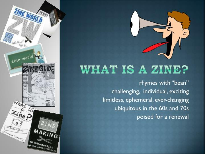What is a zine