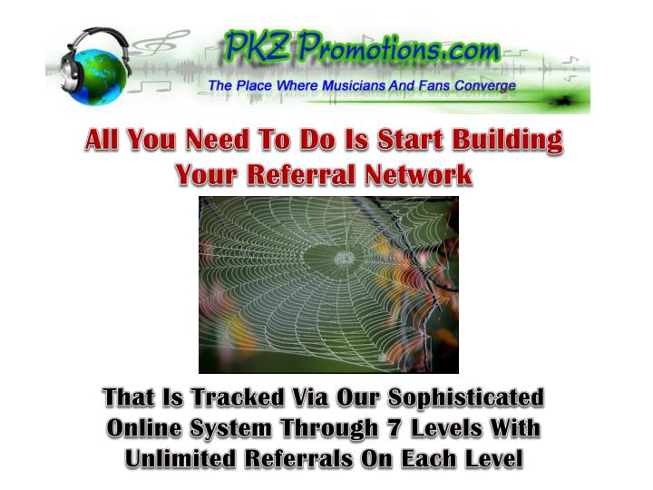 All You Need To Do Is Start Building Your Referral Network