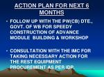 action plan for next 6 months