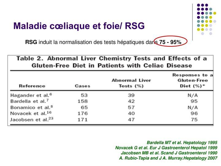 Maladie cœliaque et foie/ RSG
