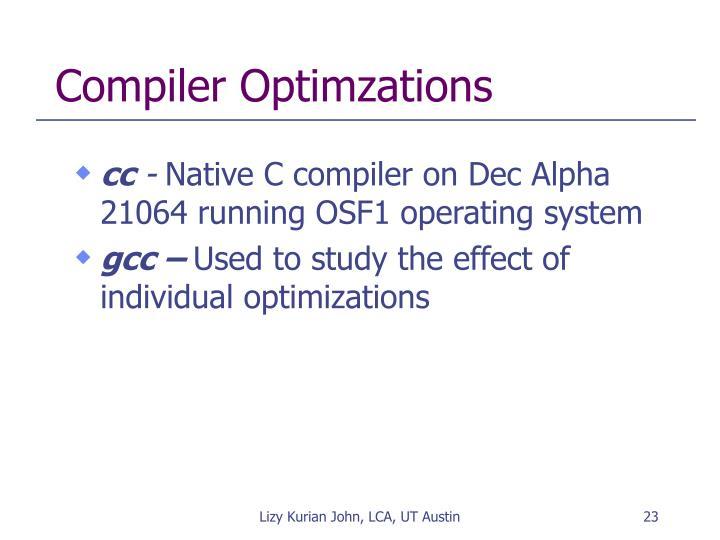 Compiler Optimzations