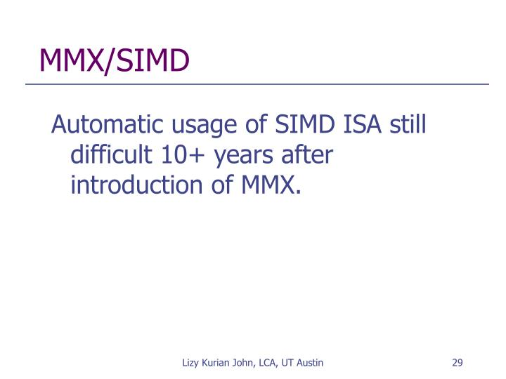 MMX/SIMD