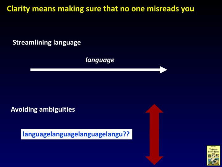 Streamlining language