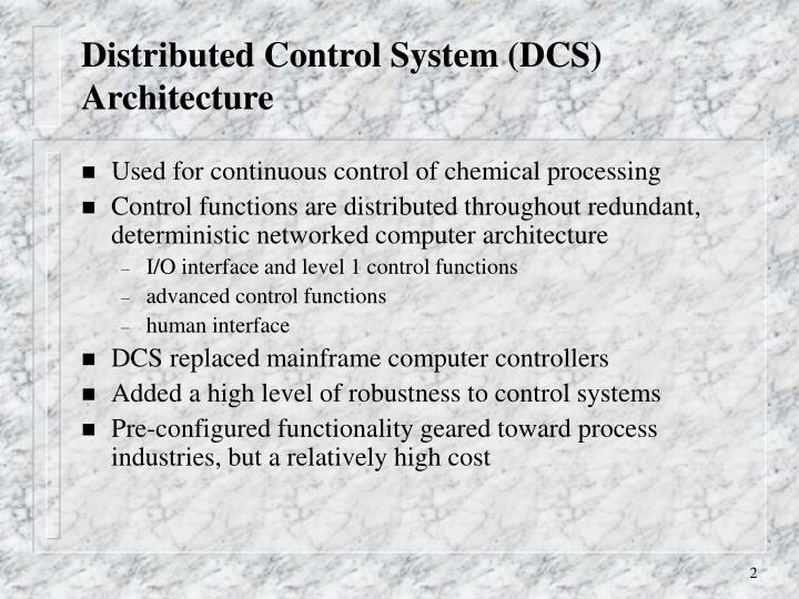 Distributed control system dcs architecture