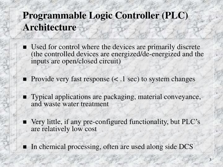 Programmable Logic Controller (PLC) Architecture