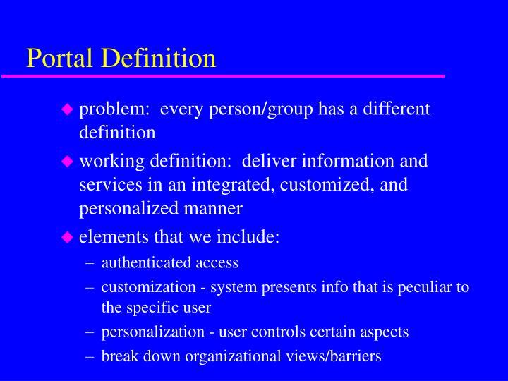 Portal Definition