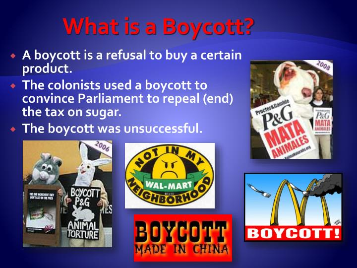 What is a Boycott?