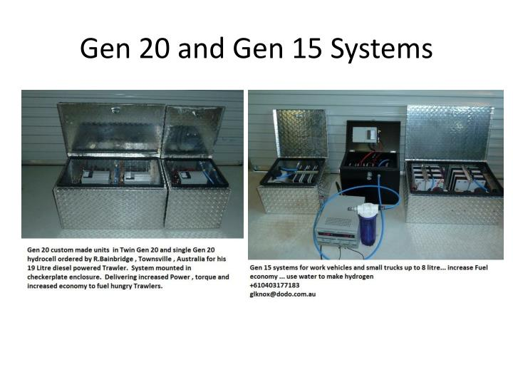 Gen 20 and Gen 15 Systems