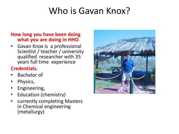 Who is Gavan Knox?