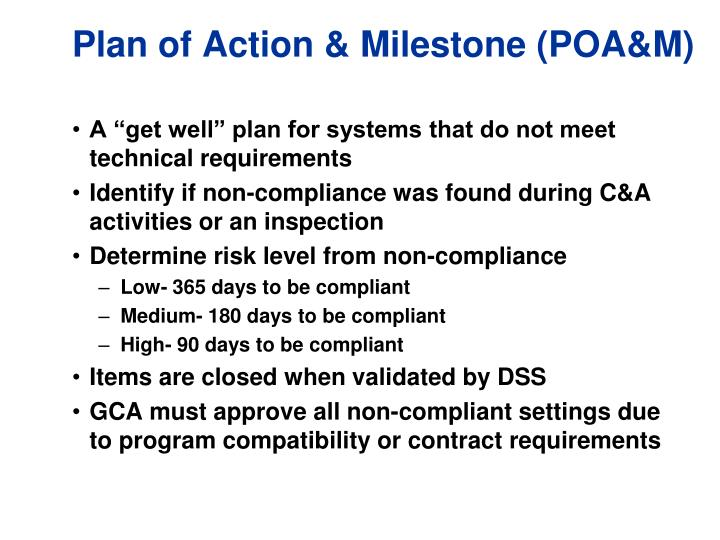 plan of action and milestones template - ppt odaa workshop powerpoint presentation id 6765346