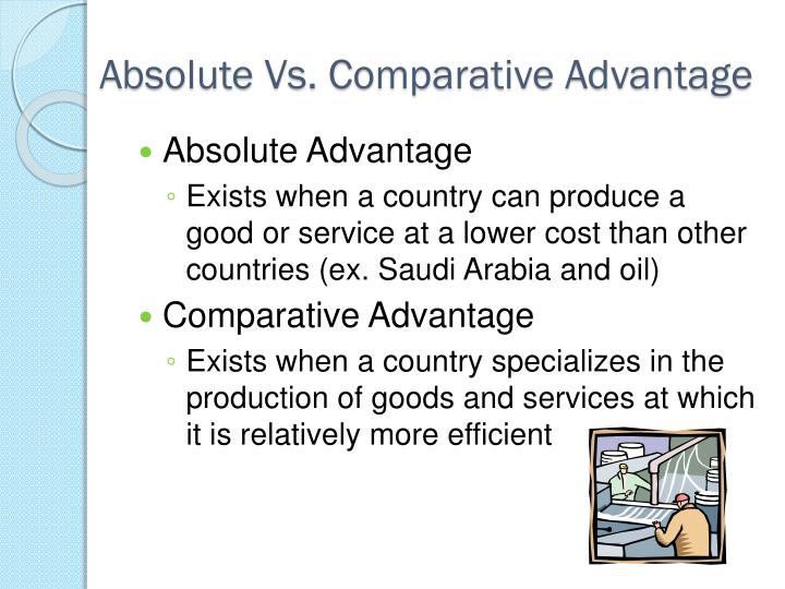 Absolute Vs. Comparative Advantage