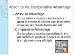 absolute vs comparative advantage