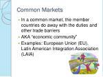 common markets