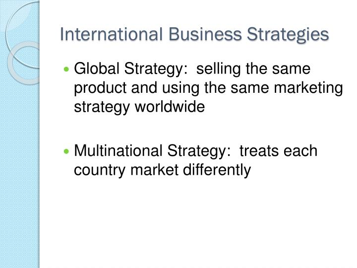 International Business Strategies