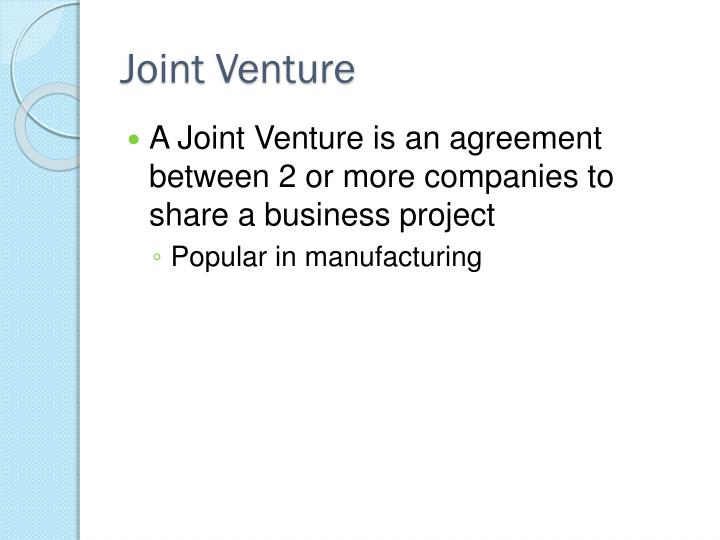 Joint Venture