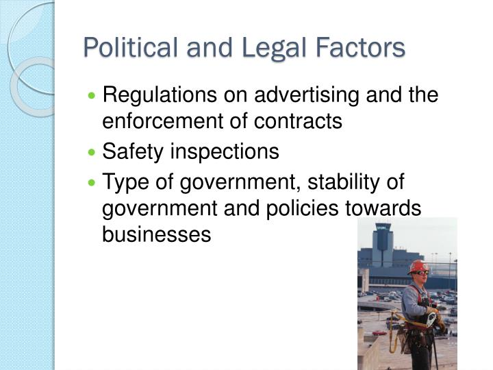 Political and Legal Factors