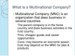 what is a multinational company