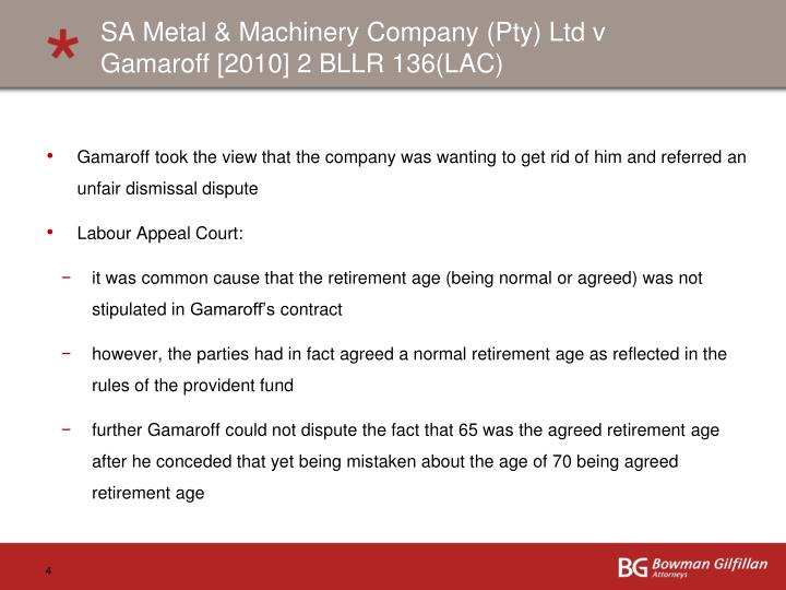 SA Metal & Machinery Company (Pty) Ltd v