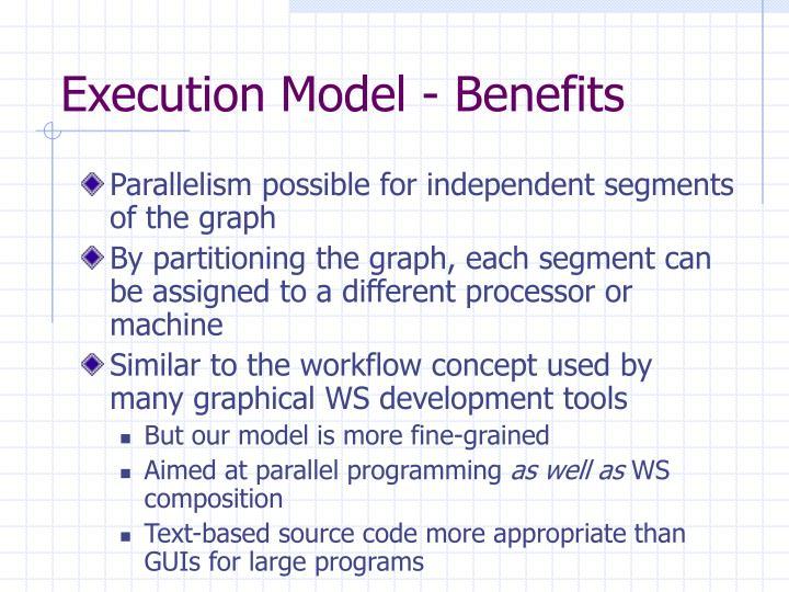 Execution Model - Benefits
