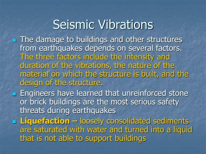 Seismic Vibrations