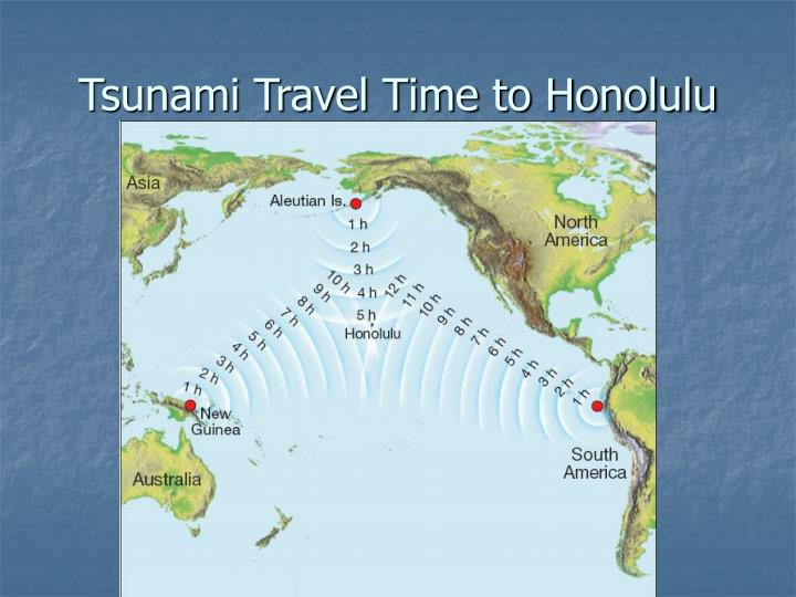 Tsunami Travel Time to Honolulu