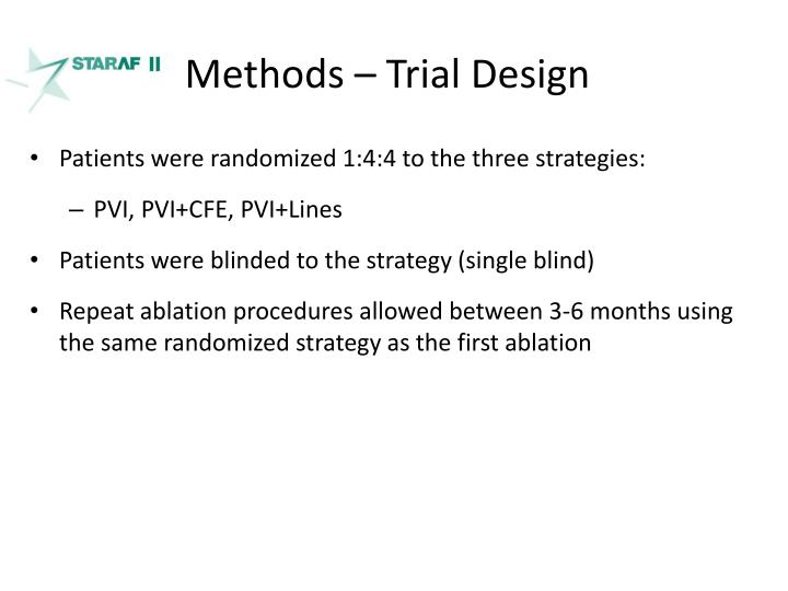 Methods – Trial Design