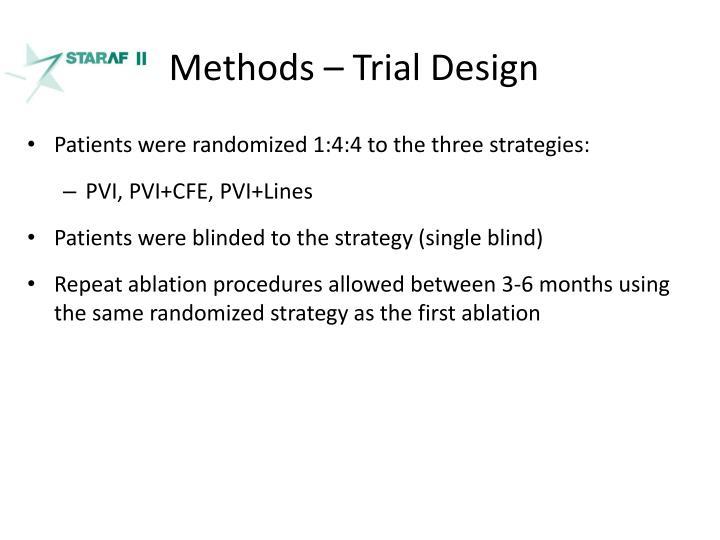 Methods – Trial Design