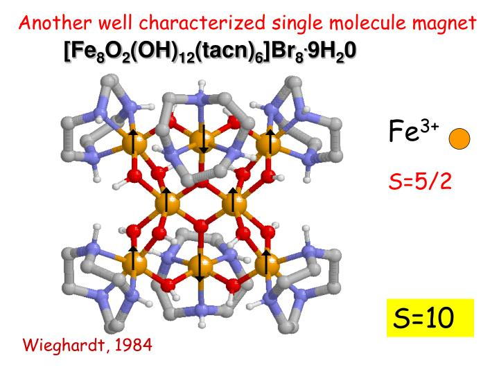 Another well characterized single molecule magnet