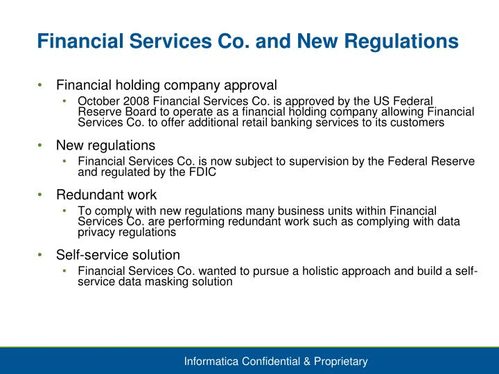 Financial Services Co. and New Regulations